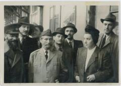 Rabbi Eliezer Silver Surrounded by Yeshiva Students in Europe in 1946