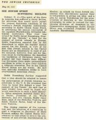 Article Regarding May 1931 Conference of the Agudath Harabbonim
