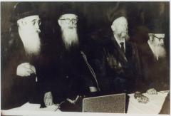 Rabbi Eliezer Silver Standing During Prayer led by an Unidentified Rabbi