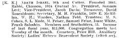 Bio of Adath Israel Congregation (Cincinnati, Ohio) from the American Jewish Year Book 1900 – 1901, 5661