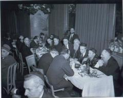 Rabbi Eliezer Silver Seated at an Unidentified Wedding with Unidentified Rabbanim