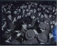 Rabbi Eliezer Silver Dancing with the Chassan at an Unidentified Wedding