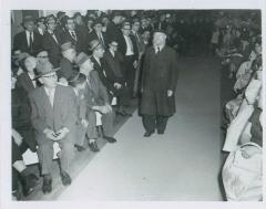 Rabbi Eliezer Silver Walking Down the Aisle at an Unidentified Wedding