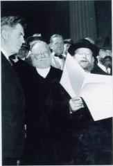 Rabbi Eliezer Silver Reading a Proclamation at the 1943 Meeting with Vice President Henry A. Wallace