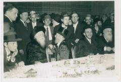 Rabbi Eleizer Silver Seated at an Unidentified Wedding
