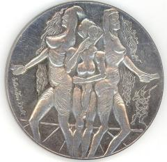 Salvador Dali Peace Medal Issued in Honor of the Israel / Egyptian Peace Treaty in 1978