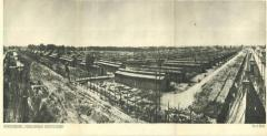 Auschwitz-Birkenau Postcard Showing a Panoramic View of the Town of Barracks in Birkenau