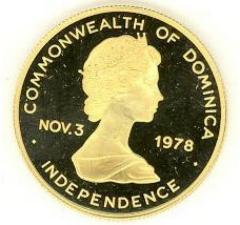 Coin Issued by the Commonwealth of Dominica in 1979 to Celebrate its Independence and the Signing of the Egyptian / Israeli Peace Treaty