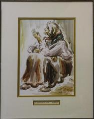 """""""An Old Woman of Safad"""" by David Gelboa"""