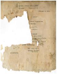 Notice and Agenda for February 1943 Meeting of Kneseth Israel Congregation (Cincinnati, Ohio) Board
