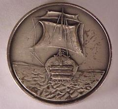 Tribe of Levi- Salvador Dali 1973 25th Anniversary of Israel Silver Medal