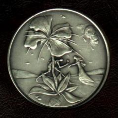Tribe of Reuben- Salvador Dali 1973 25th Anniversary of Israel Silver Medal