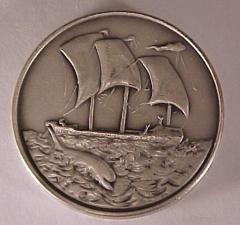 Tribe of Zebulon - Salvador Dali 1973 25th Anniversary of Israel Silver Medal