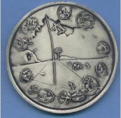 Salvador Dali 1973 25th Anniversary of Israel Silver Medal