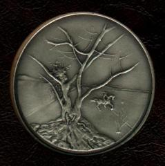 Tribe of Asher - Salvador Dali 1973 25th Anniversary of Israel Silver Medal