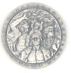 Medal Issued by the Union of Jewish Combatants to Commemorate the 50th Anniversary of the Warsaw Ghetto Uprising