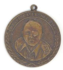 Moshe Dayan Hero of 1967 / Jerusalem Medallion