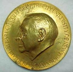 Bernard Baruch College Morton Wolman Award Medal