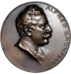 Alfred Grunfeld 70th Birthday Medal