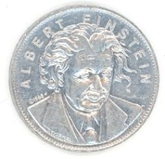 Albert Einstein Coin from Shell's Famous Facts & Faces Game