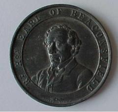 Benjamin Disraeli - Earl of Beaconsfield Death Medal