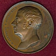 Salomon Mayer von Rothschild 70th Birthday Medal from 1844