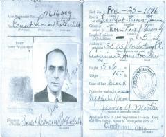 Certificate of Identification for Ernst Rothschild
