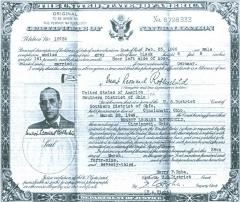 "Certificate of Naturalization for Ernst ""Ernest"" Rothschild"