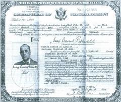 "Certificate of Naturalization for Ernst ""Ernest"" Rothschild"