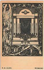 "E. M. Lilien Postcard ""Windmung"" (""Dedication"")"
