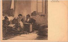 "E. M. Lilien Postcard ""Talmudisten"""