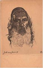 """E. M. Lilien Postcard """"Jude Aus Jemen"""" (""""Jew from Yemen"""")"""