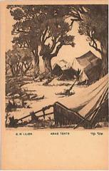 """E. M. Lilien Postcard """"Arab Tents"""""""
