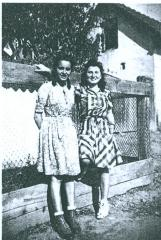 Anna Brünn (Ornstein) and friend