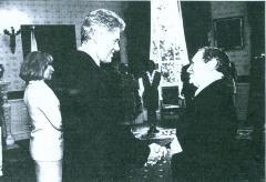 Rabbi Herman Schaalman and President Bill Clinton