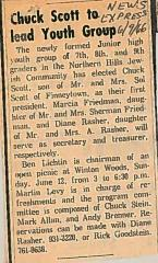 Northern Hills Synagogue Junior High Youth Group Elects Chuck Scott as their First President 1966 (Cincinnati, OH)