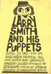 Northern Hill Synagogue (Beth El) Presents Larry Smith and his Puppets 1962 (Cincinnati, OH)