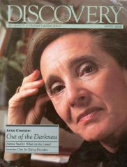 """Anna Ornstein: Out of the Darkness"" - article published in Discovery: The University of Cincinnati Medical Center"