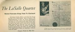 """The LaSalle Quartet: Musical Foursome Brings Fame to Cincinnati"" - newspaper article"