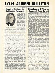 J.O.H Alumni Bulletin April, 1941 (Cincinnati, OH)