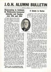N.O.H. Alumni Bulletin July 1941